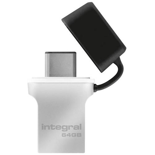 Integral 64GB Fusion USB-C 3.1 Flash Drive - 120MB/s