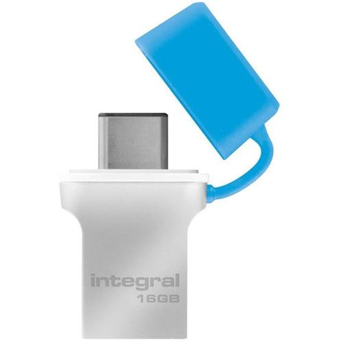 Integral 16GB Fusion USB-C 3.1 Flash Drive - 120MB/s