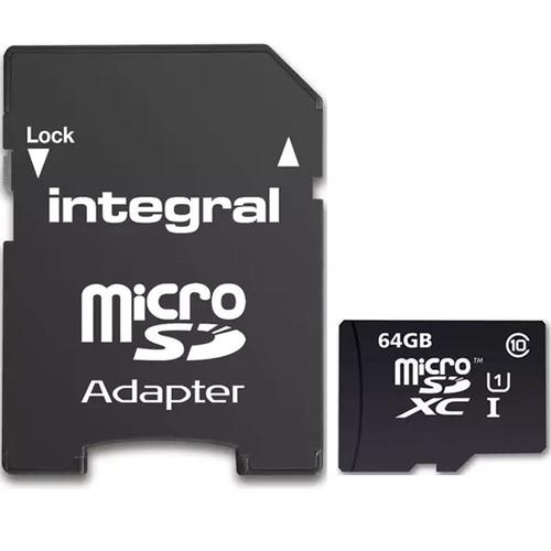 Integral 64GB Ultima PRO Micro SD Card (SDXC) + Adapter - 90MB/s