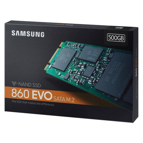 Samsung 500GB SSD 860 EVO M.2 SATA Internal SSD - 550MB/s