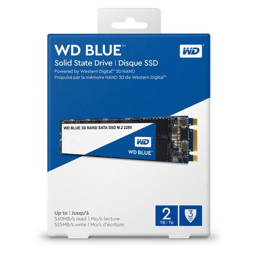 WD 2TB SSD Blue 3D NAND SATA M.2 Internal SSD - 6.0 Gbps