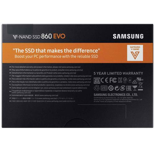 Samsung 500GB SSD 860 EVO SATA Internal SSD - 550MB/s