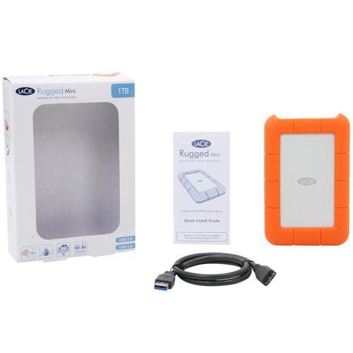 Lacie 1TB HDD Rugged Mini External HDD USB 3.0 - 130MB/s