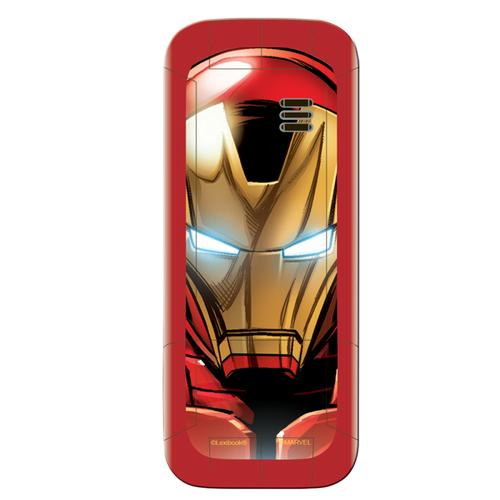 Lexibook GSM20AV Iron Man Dual Sim 2G Mobile Phone FM Radio, Bluetooth and Torch light - Red
