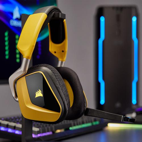 Corsair Void Pro SE RGB Wireless 7 1 Surround Gaming Headset - Yellow
