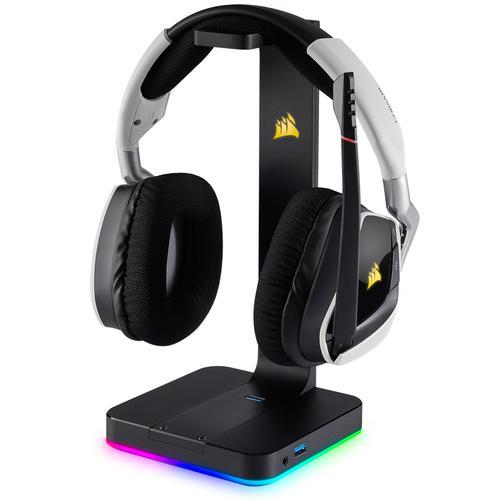 Corsair Gaming ST100 RGB Surround 7.1 Gaming Headset + Headphone Stand - Black