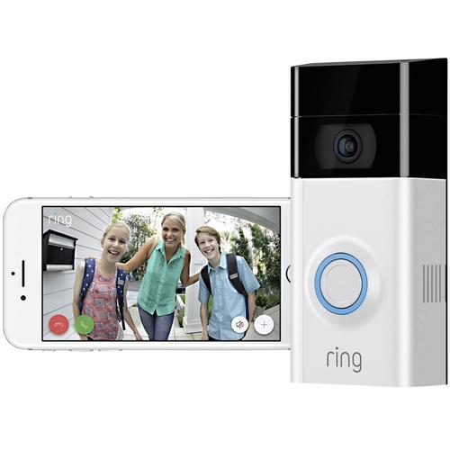 Ring Wireless Video Doorbell V2 Alexa HD, 2-Way Talk and WiFi - Satin Nickel