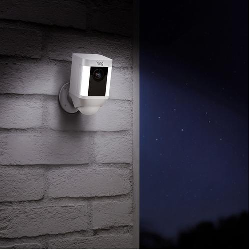 Ring Spotlight Wireless Home Security Camera - White