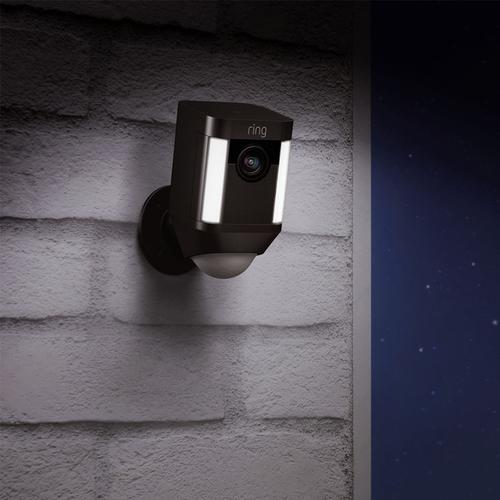 Ring Spotlight Battery Home Security Camera 2x Pack - Black