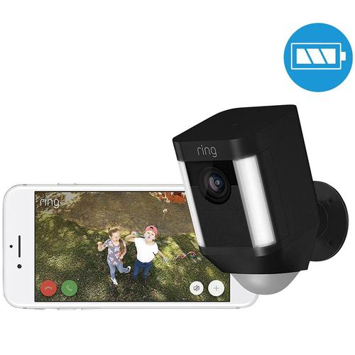 Ring Spotlight Battery Home Security Camera - Black