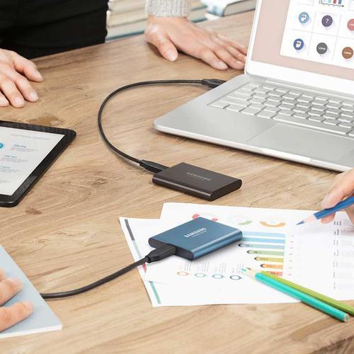 Samsung 1TB T5 MU-PA1T0B USB 3.1 Gen2 Portable Solid State Drive Black