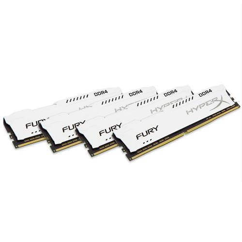 Kingston HyperX FURY White 64GB (4x16GB) Memory Kit PC4-23400 2933MHz DDR4