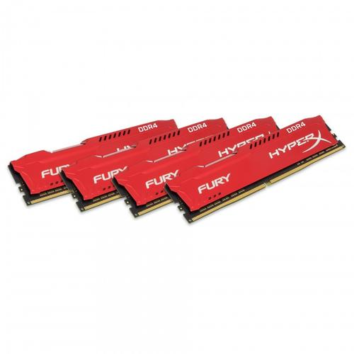 Kingston HyperX FURY Red 64GB (4x16GB) Memory Kit PC4-19200 2400MHz DDR4