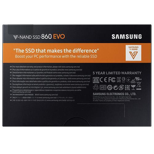 "Samsung 250GB SSD 860 EVO Internal SATA 2.5"" 3D V-Nand Solid State Drive - 560MB/s"
