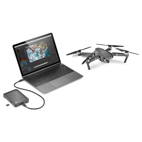 "Seagate 2TB Portable 2.5"" DJI Fly Drive UHS-II MicroSD Card Slot External HDD USB-C"