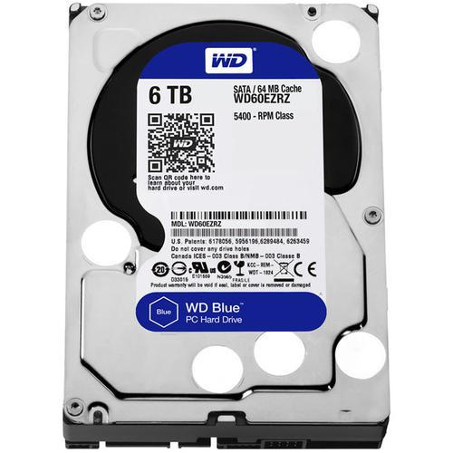 """WD 6TB HDD Desktop Internal SATA III 3.5"""" Hard Drive Blue - 6Gb/s"""