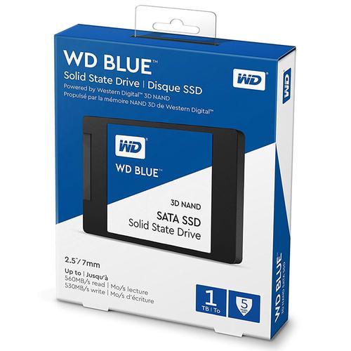 """W WD Blue 3D NAND 1TB Internal SSD SATA III 6Gb//s 2.5/""""//7mm Solid State Drive"""