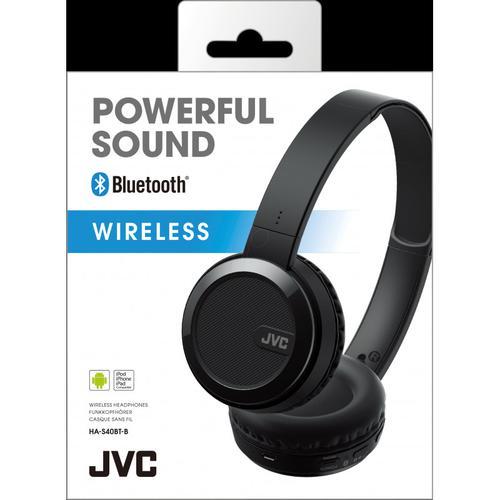 JVC HA-S40BT Bluetooth On Ear Headphones (Black)