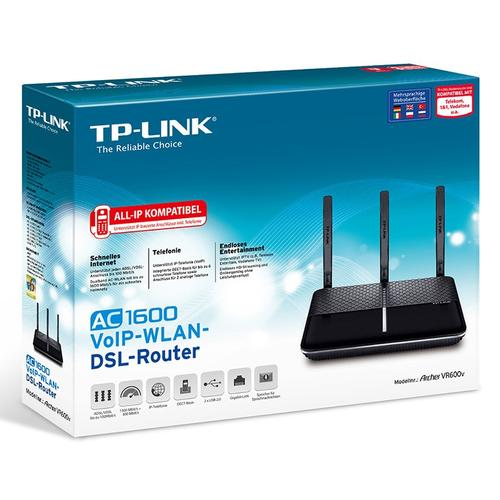 TP-Link 1625Mbps 5GHz 600Mbps 2.4GHz Dual-Band Wireless MU-MIMO Gigabit Router - Black V1.0