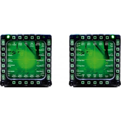 Thrustmaster MFD Multi Function Display Flight USB Cockpit Panels (2 Pack)