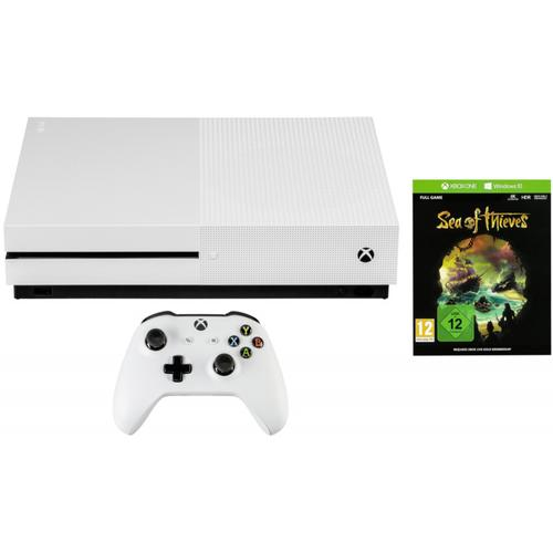 Bundle: Microsoft Xbox One S 1TB with Sea of Thieves - White