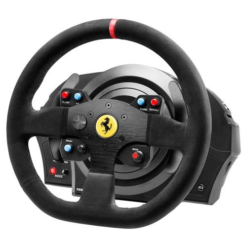 Thrustmaster T300 Ferrari Alcantara Edition Racing Wheel and T3PA 3 Pedal Set