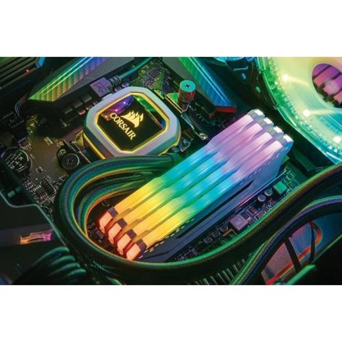 Corsair Vengeance RGB PRO 32GB (4 x 8GB) Memory Kit PC4-25600 3200MHz DDR4 DRAM DIMM C16 - Black
