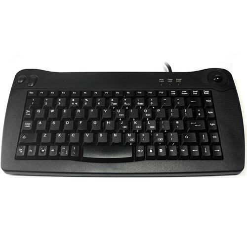 Accuratus 5010 USB Mini Keyboard with Trackball (Black)