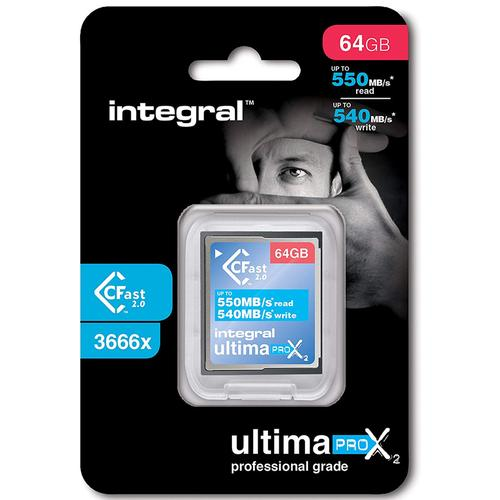 Integral 64GB UltimaPro X2 CFast 2.0 Memory Card - 550MB/s