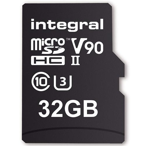 Integral 32GB UltimaPro X2 Micro SD Card SDHC UHS-II U3 V90 8K - 280MB/s
