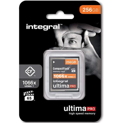 Integral 256GB 1066X Ultima PRO Compact Flash Card VPG-65 UDMA-7 - 160MB/s
