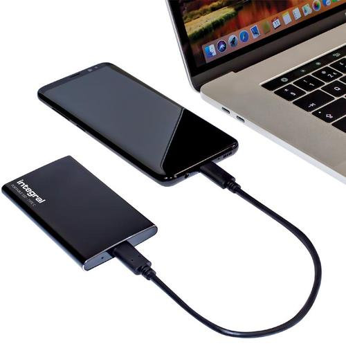 Integral 480GB USB3.1 Type-C and Type-A Portable SSD - 500MB/s