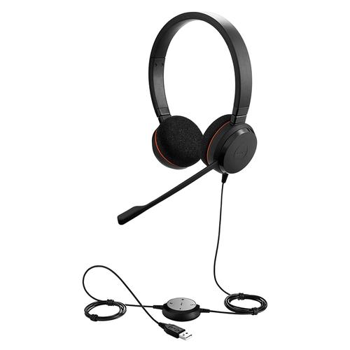 Jabra Evolve 20 MS Corded Stereo Headset with Microphone (Microsoft Lync)