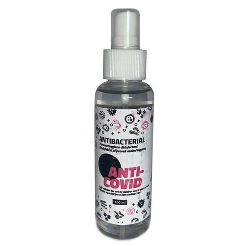 Anti-Bacterial Hand Sanitiser 80% Ethanol 100ml Spray - 3 Pack