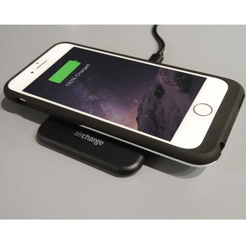 Aircharge Qi-Certified 5W Wireless Slimline Charging Pad - Black