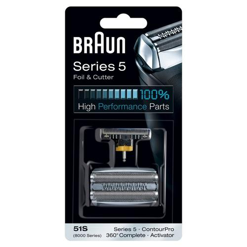 Braun 51S Series 5 Electric Shaver Replacement Foil and Cutter - Silver