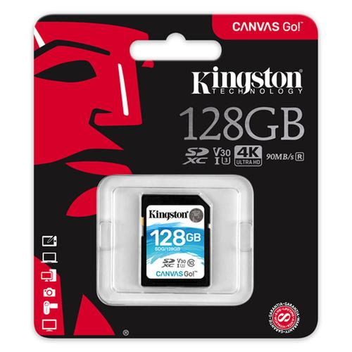 Kingston 128GB Canvas Go SD Card  (SDXC) U3 V30 - 90MB/s