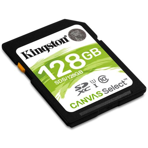 Kingston 128GB Canvas Select SD Water (SDXC) - 80MB/s