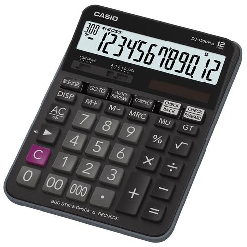Casio 12 Digit Desktop Calculator with Auto Review