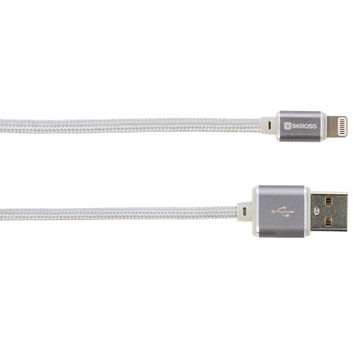 SKROSS Charge'n Sync Lightning Connector Cable - 1M - Steel Line
