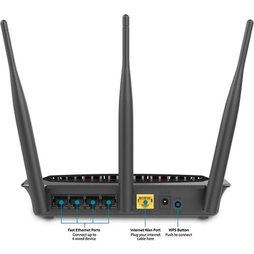 D-Link Dual Band Wireless AC750 Wi-Fi Router with 4-Port Fast Ethernet DIR-809