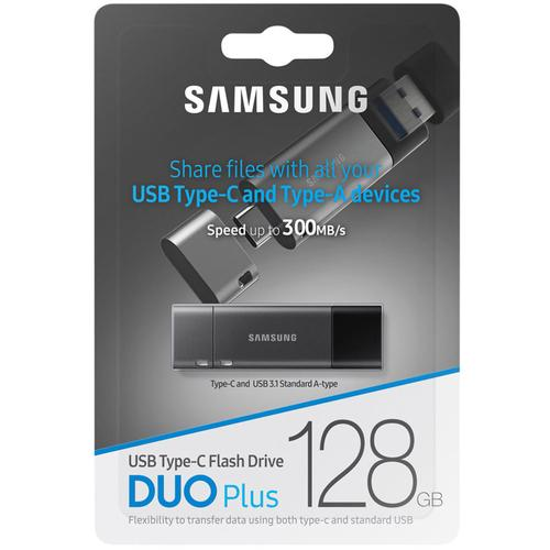 Samsung 128GB Duo Plus USB-C 3.1 Flash Drive - 300Mb/s