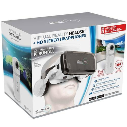Utopia 360 Wifi Camera and VR Headset Bundle - Android / Apple