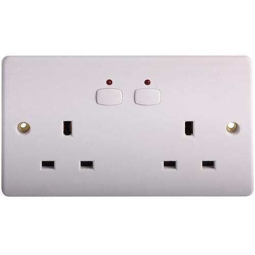Energenie MIHO007 Double Wall Socket - White