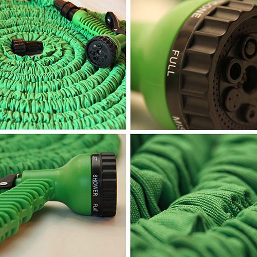 100 Foot Expandable Garden Hose with Spray Gun