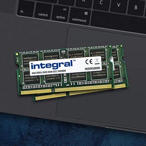 Integral 8GB (2x 4GB) 1600MHz DDR3 SODIMM CL11 Laptop Memory Module Kit