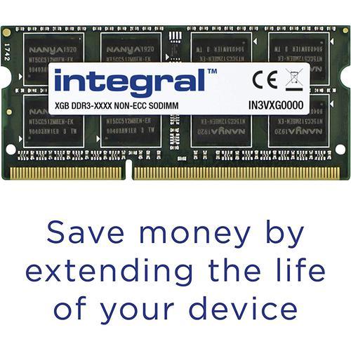 Integral 16GB (2x 8GB) 1600MHz DDR3 SODIMM CL11 Laptop Memory Module Kit