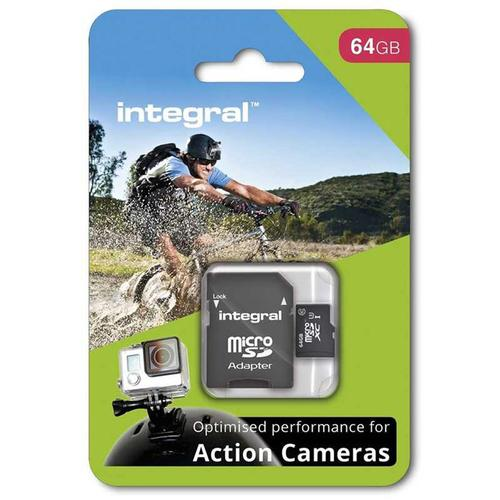 Integral 64GB Action Camera Micro SD Card (SDXC) UHS-I U3 + Adapter - 90MB/s