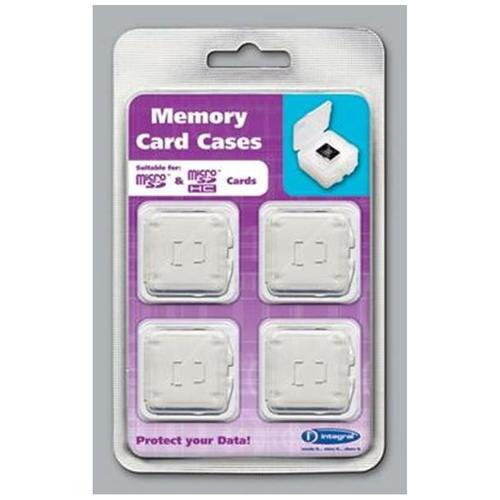 Integral Micro SD / Micro SDHC / Micro SDXC Card Cases - 4 Pack