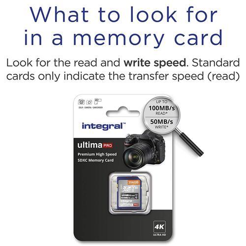 Integral 256GB UltimaPRO V30 Premium SD Card (SDXC) UHS-I U3 - 100MB/s